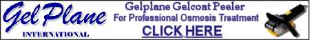 Visit The Gelplane Website, manufacture of the World's Leading Gelcoat Peeler for Professional Osmosis Treatment